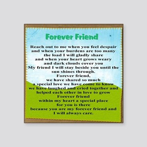 "Friendship Square Sticker 3"" x 3"""